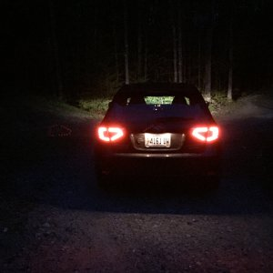 Valenti Taillights at Night Idling.